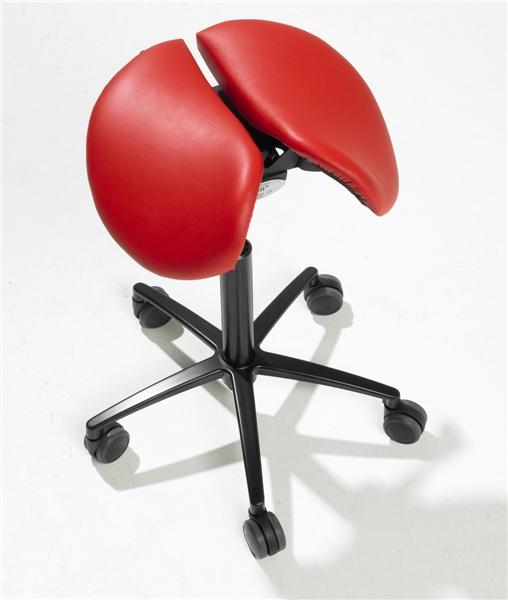 Salli Twin Saddle Stool Divided Seat