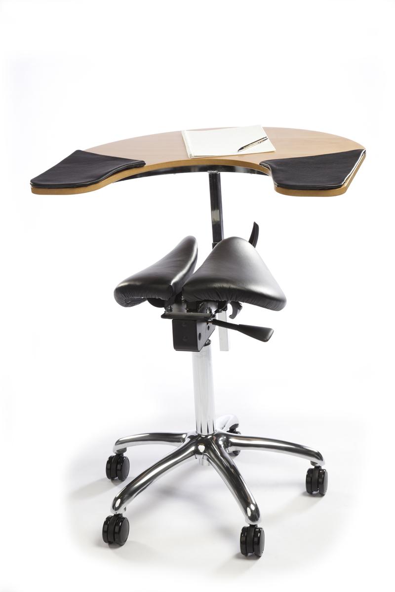 Salli Twin Saddle Seat with Elbow Table